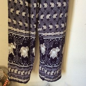 Prana Pants - Soft Flowy Indian Elephant Purple Lounge Pants